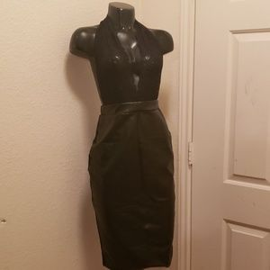 Sedrinuo Lace and faux leather Dress
